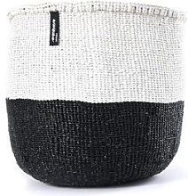 mifuko - White Black Basket Medium