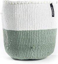mifuko - White Light Green Basket Large