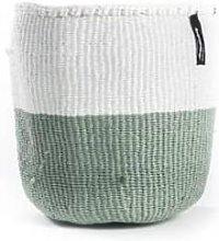 mifuko - White Light Green Basket Medium