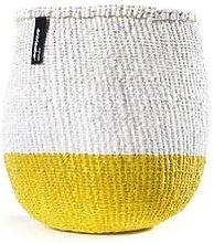 mifuko - White Yellow Basket Small