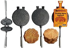Migiris Heart Shaped Non-Stick Waffle Maker for