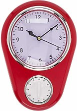 MIK Funshopping Retro Kitchen Time Wall Clock with