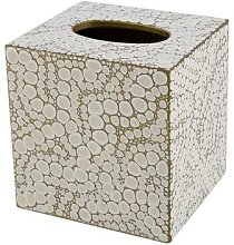 Mike + Ally - Proseco Tissue Box - Oatmeal/Gold