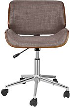 Mike Ergonomic Desk Chair Blue Elephant Upholstery