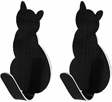 MIKI-Z 2pcs Cat Tail Shaped Decorative Stainless
