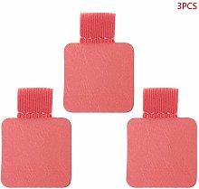 MIKI-Z 3pcs Square Self-adhesive Leather Pen Clip