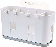 MIKI-Z Wall Mounted Cutlery Drainer Rack with Drip