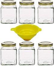 mikken 6 x 210 ml Jam Jar, Spice Jar, Glass Jar,