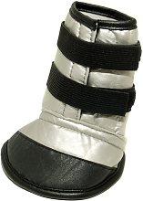 Mikki Dog Boot (Size 4) (Black/Silver) - Interpet
