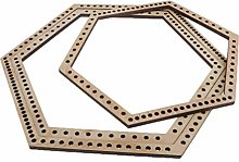 Milageto 3x Big/Middle/Small Wooden Hexagon