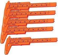 Milageto 5pcs Mini Plastic Ruler Sliding 80mm