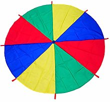 Milageto 6~16 Foot 4 Colors Kids Play Parachute