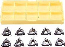 Milageto Pack of 10 16ER AG55 Carbide Inserts for