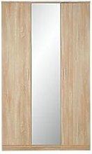 Milan 3 Door Mirrored Wardrobe