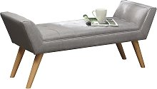 Milan Fabric Upholstered Bench - Grey