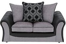 Milan Faux Leather And Fabric 2 Seater Scatter