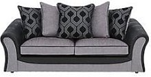 Milan Faux Leather And Fabric 3 Seater Scatter