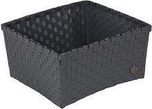 Milan Plastic Basket Handed By Colour: Dark Grey