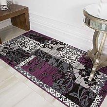 Milan Purple Black & Grey Contemporary Floral