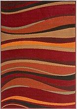 Milan Red Brown Burnt Orange Modern Waves