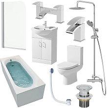 Milan Single End 1600mm Bathroom Suite- 550mm