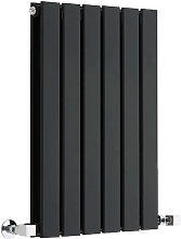 Milano Alpha - Modern Black Horizontal Double Flat