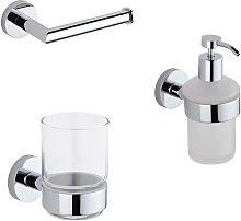 Milano Mirage - Modern 3 Piece Bathroom Accessory