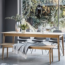 Milano Wooden Extending Dining Table In Mat Lacquer