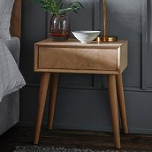 Milano Wooden Side Table In Mat Lacquer With 1