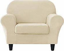 MILARAN Velvet Sofa Slipcover Soft Stretch Couch