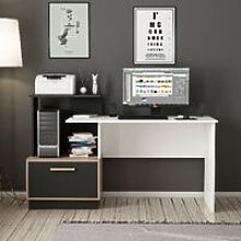 Milas Desk - with Shelves - for Office, Bedroom -