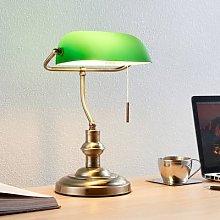 Milenka - desk lamp with green lampshade