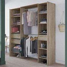 Mileno 7 Shelves 3 Drawers Closet Organizer In