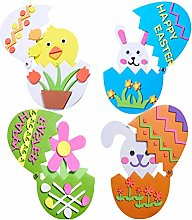 Milisten 4PCS Easter DIY Material Kit Chick and