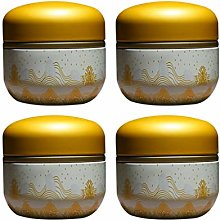 Milisten 4pcs Round Loose Tea Cans Mini Coffee
