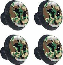 Military Camo Woodland Camoflage Drawer Pulls Knob