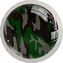 Military Camouflage, Cabinet Knob Premium Drawer