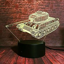 Military Machine Tank 3D Led Optical Illusion