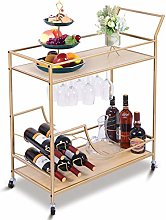 Militisto 2 Tiers Kitchen Trolley Serving Cart on