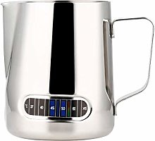 Milk Coffee Frothing Pitcher with Thermometer