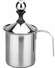 Milk Frother, Stainless Steel Handheld Manual Milk