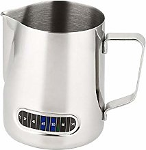 Milk Frothing Jug Pitcher with Thermometer