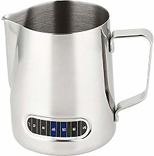 Milk Frothing Pitcher Jug with Thermometer 600ML