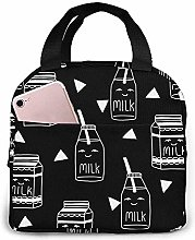 Milk Lunch Bag Reusable Lunch Box Lunch Cooler Tote