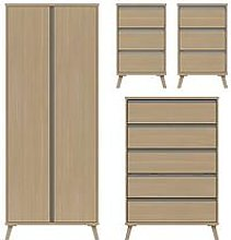 Miller Ready Assembled Package - 2 Door Wardrobe,