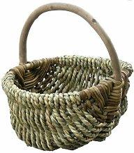 Millie Seagrass Shopping Wicker Basket Brambly