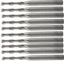 Milling Bit 10pcs 2.0 x 12mm Two Flutes Carbide