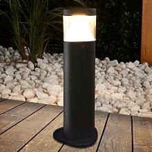 Milou Dark Grey LED Pillar Lamp