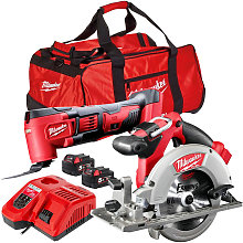 Milwaukee 18V Multi Tool + Circular Saw With 2 x