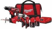 Milwaukee M12 BPP4A-202B 12V 4 Piece Tool Kit with